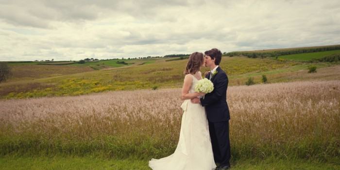 Midwest Prairie wedding in Wisconsin {daily photo}