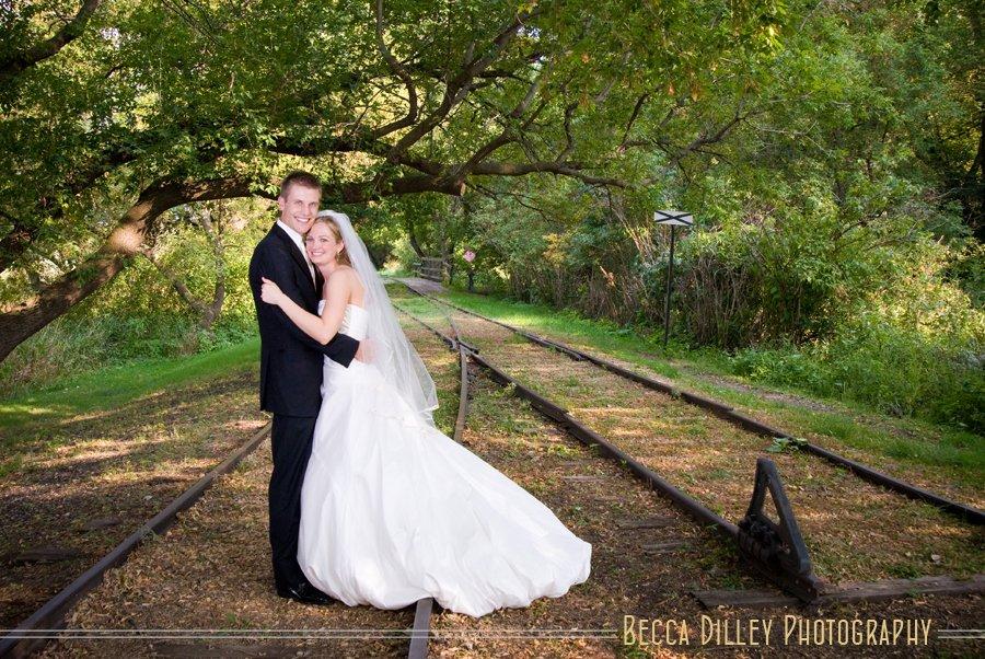 rail road track wedding photos northern minnesota wedding