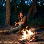 fire pit senior photos minneapolis mn