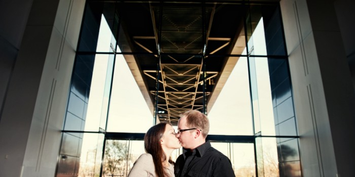 Architectural Engagement at the Guthrie Theater in Minneapolis {Molly & Matt}