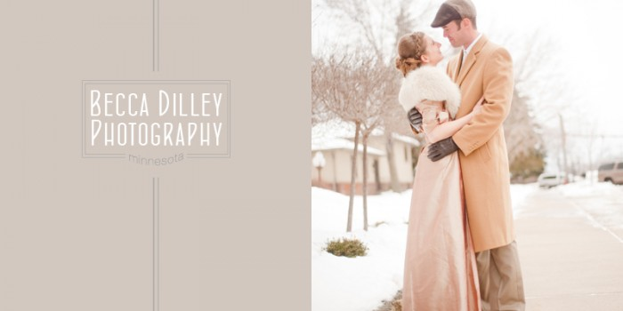 Minnesota winter wedding with 1940′s glamour {Michelle & Michael} preview