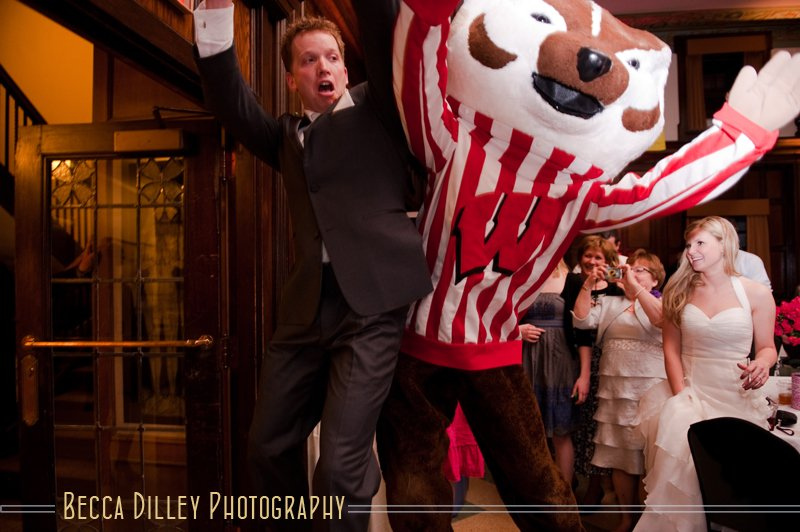 Bucky Badger wedding madison wi