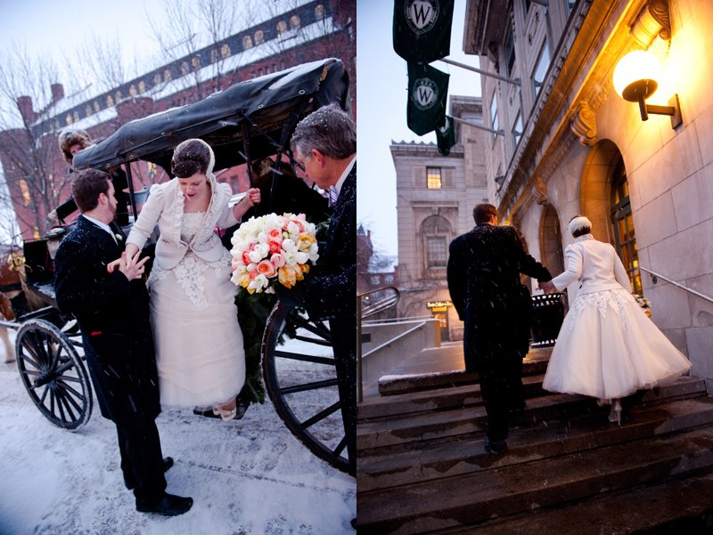 winter wedding with snow 2
