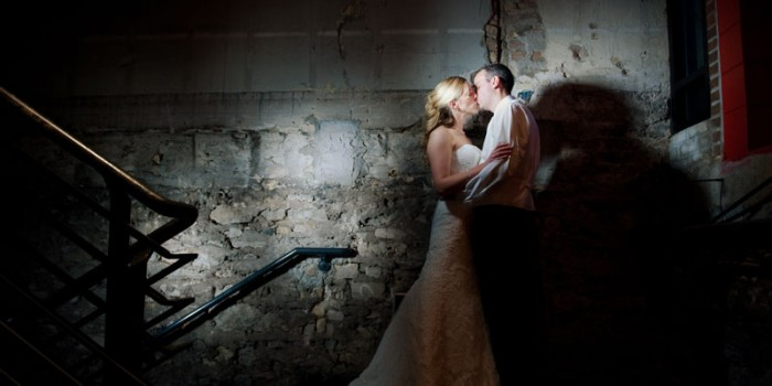 minneapolis warehouse wedding with brick