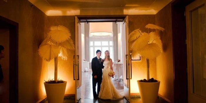 Calhoun Beach Club Wedding Minneapolis palm trees