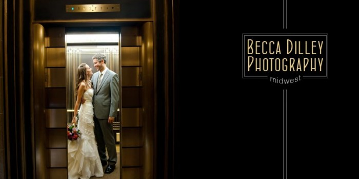 madison wi wedding photographer in elevator