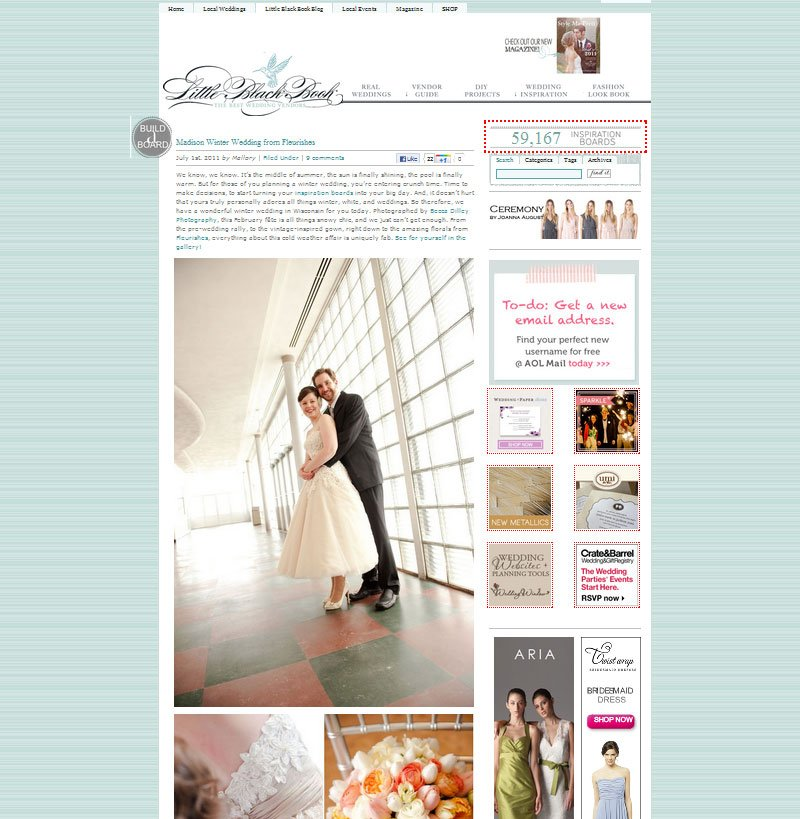 midwest wedding featured on style me pretty