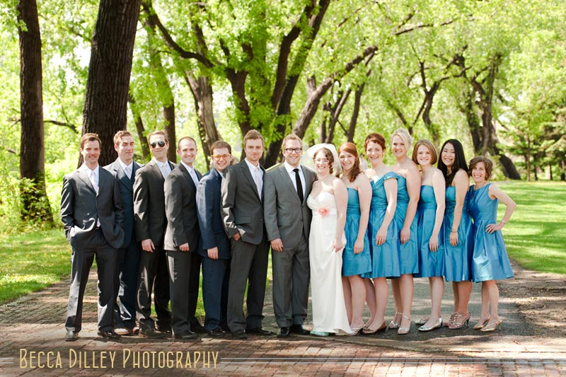 wedding party in blue minneapolis mn