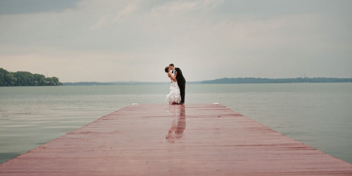 madison wi wedding at boat house on red pier