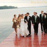 lake mendota wedding photos with red pier