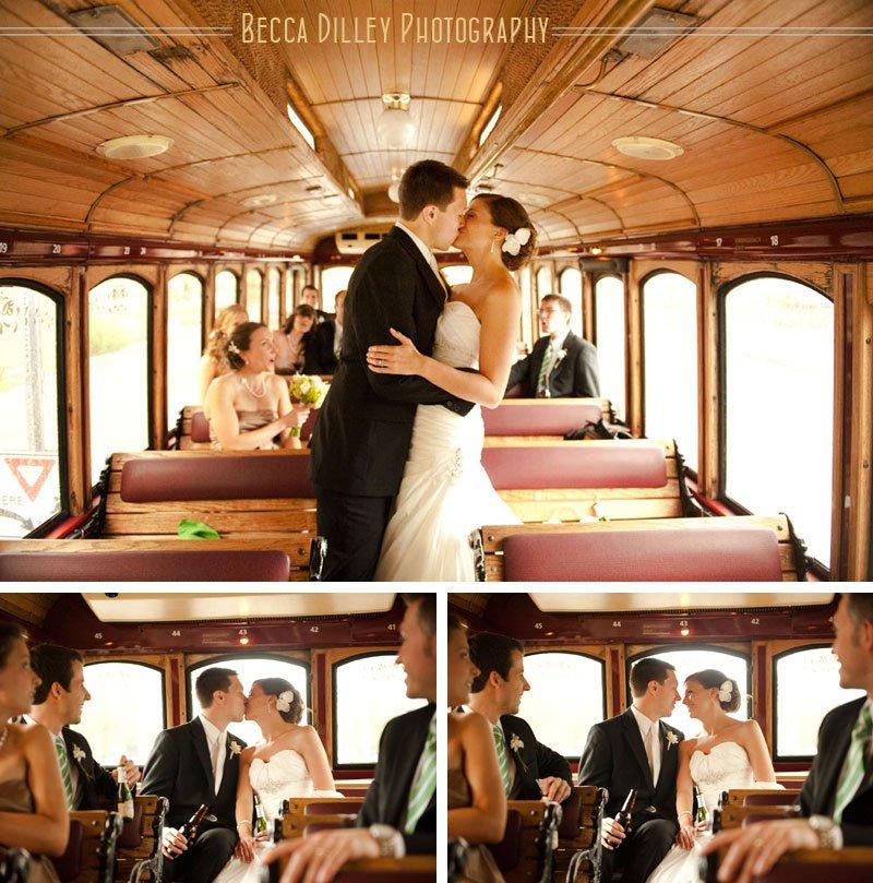 madison wedding trolley