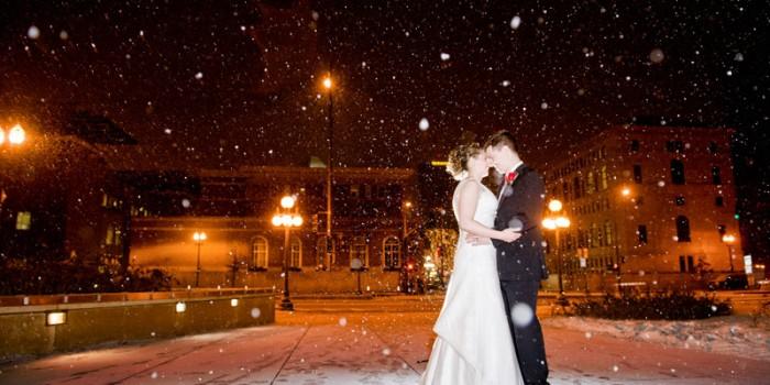 snowy st paul wedding mn winter snow