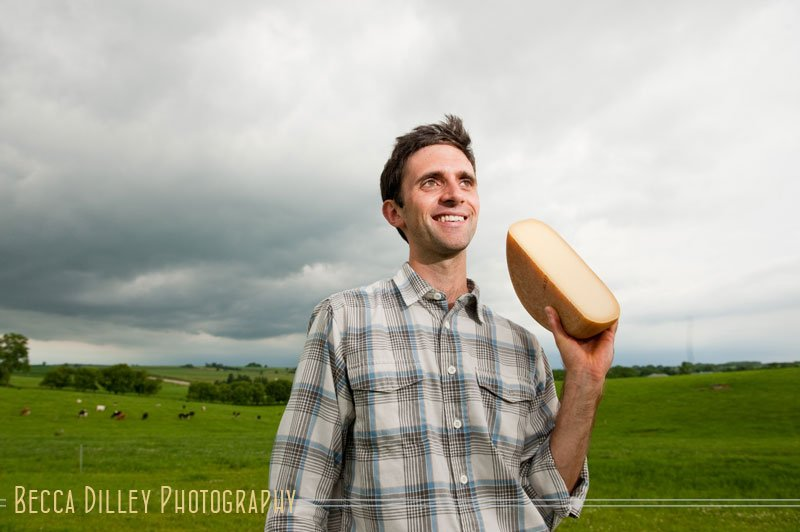 Andy Hatch Wisconsin artisan cheesemakers editorial portraits
