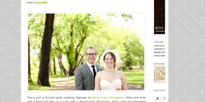 featured on modernly wed magazine