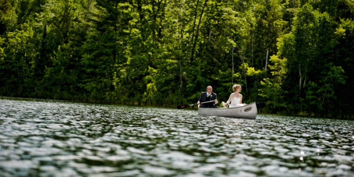 canoe northshore camp wedding