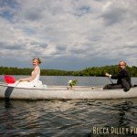 wisconsin northwoods wedding canoeing