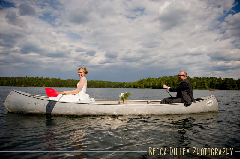wisconsin northwoods wedding canoeing