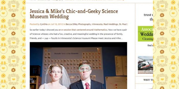science museum wedding in poptastic bride