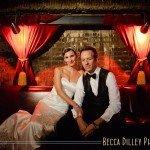 Minneapolis wedding photographer at Varsity Theater with 20s vintage style