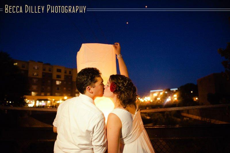 minneapolis wedding lantern lighting