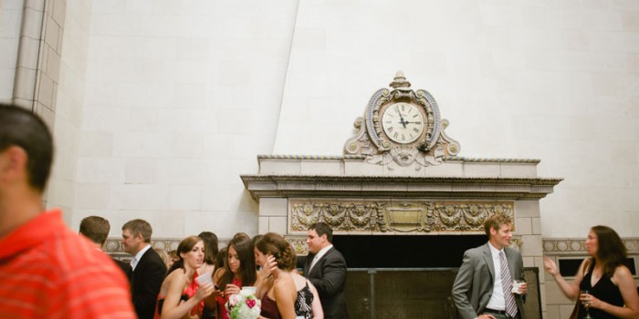 stone mantle at University Club and Hotel 340 Wedding in St Paul, MN