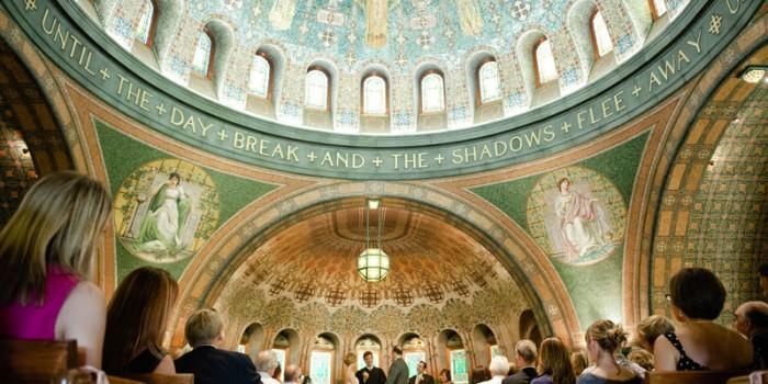 lakewood chapel wedding in Minneapolis MN - Byzantine mosaic art