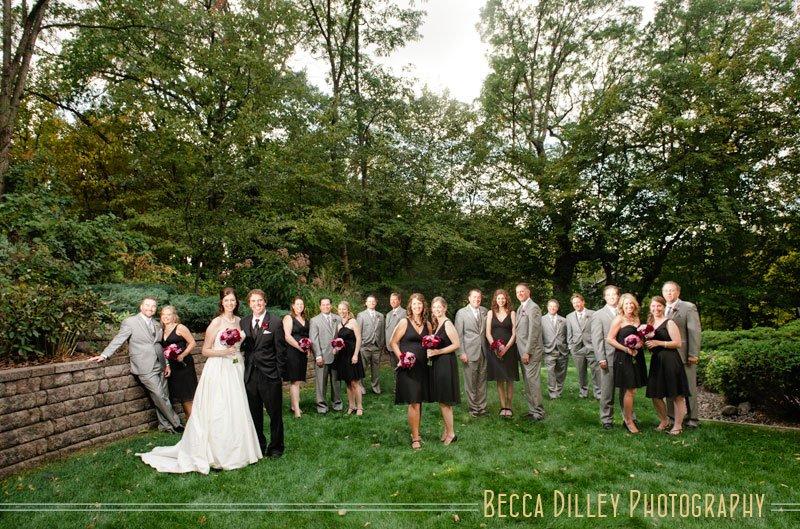 Flash Composite In Backyard Wedding Photos Mn