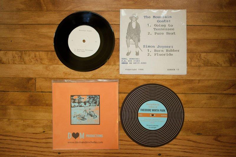 Record vs record-themed wedding invitation - Minneapolis Wedding ...