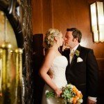 bride and groom in old hollywood Metropolitan Ballroom Wedding Minneapolis