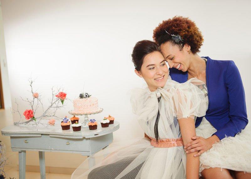 same sex wedding fashion shoot
