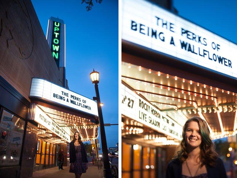 urban minneapolis senior photo uptown theater