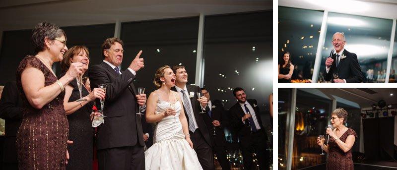 toasts at Walker Art Center wedding Minneapolis MN