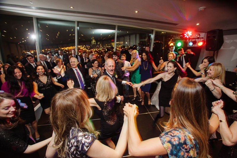 dancing the hora at Walker Art Center wedding Minneapolis MN