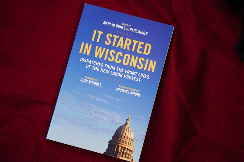 wedding during WI protests featured in book It Started In Wisconsin