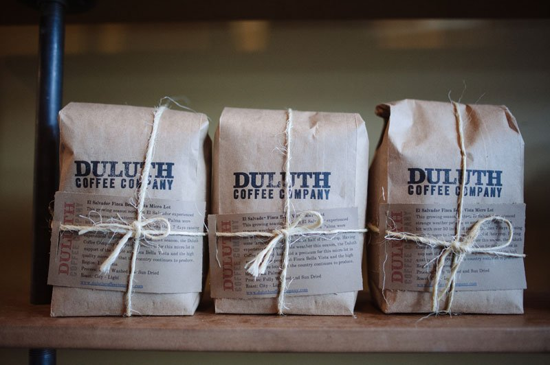 Duluth Coffee Company roasted coffee in bags