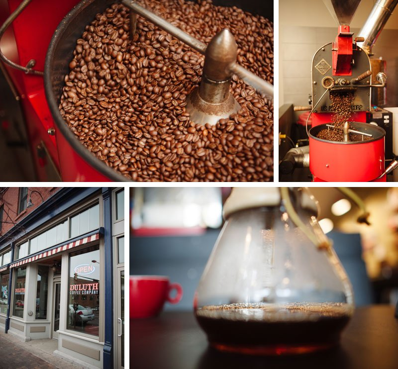Duluth Coffee Company roasting coffee