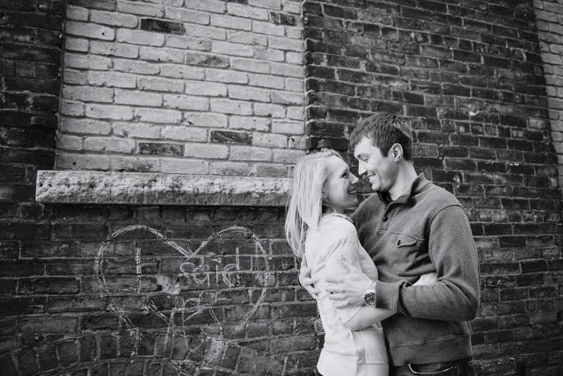 St Anthony Main engagement photos in winter minneapolis mn