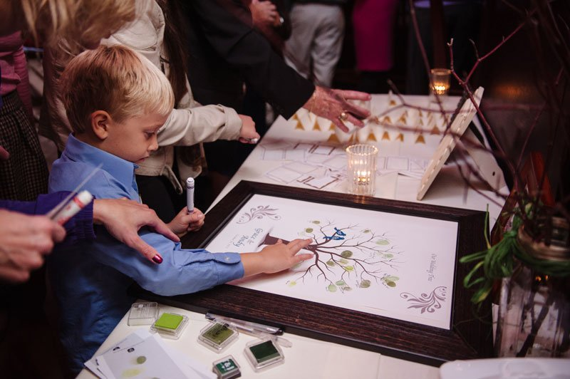 thumbprint guestbook happy gnome rehearsal dinner st paul mn