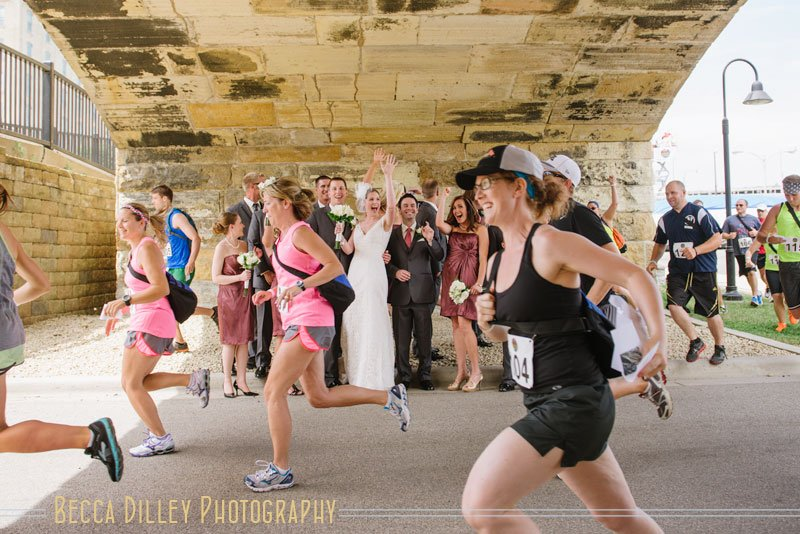 runners pace through wedding in Minneapolis