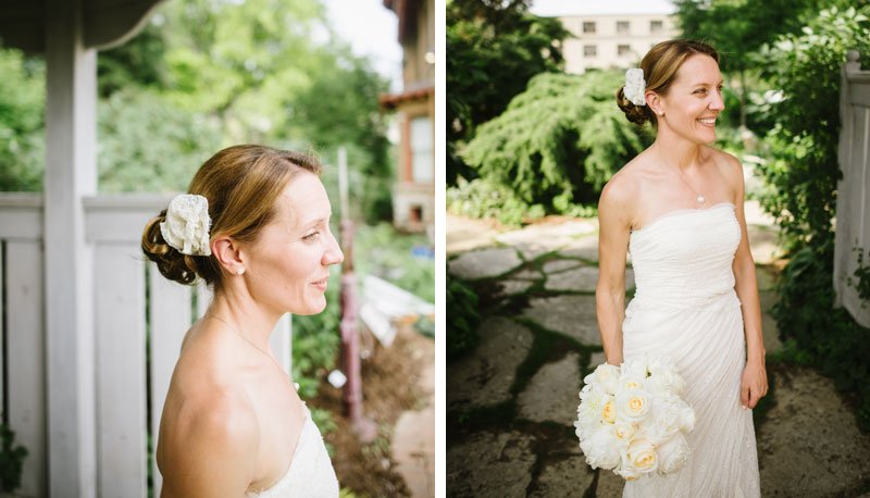 bride at allen centennial gardens