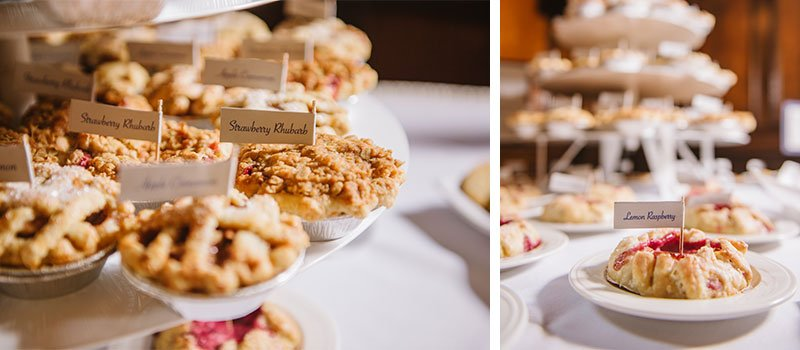 mini dessert pies for memorial union tripp commons wedding