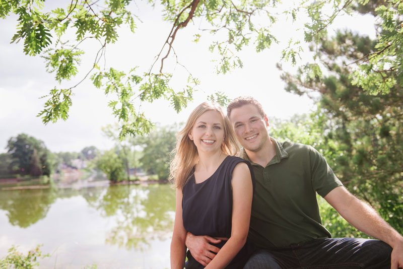 Couple at silverwood park in minneapolis mn
