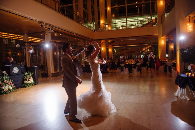 Groom Spins Bride For First Dance At Overture Center Wedding Reception Madison