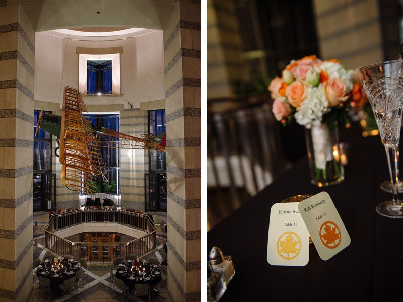 details of wedding reception at mn history center