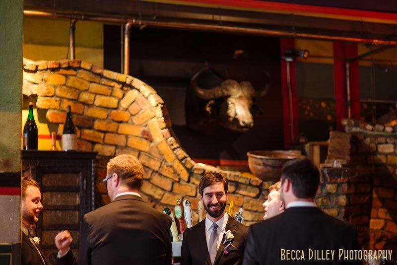 groomsmen and bull head