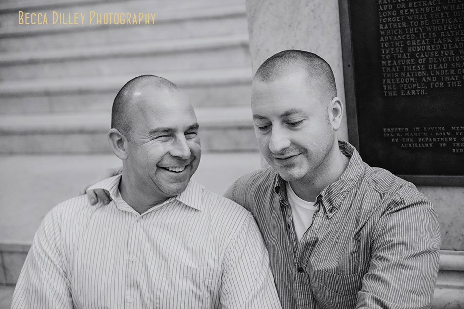 two grooms at Minneapolis city hall for wedding