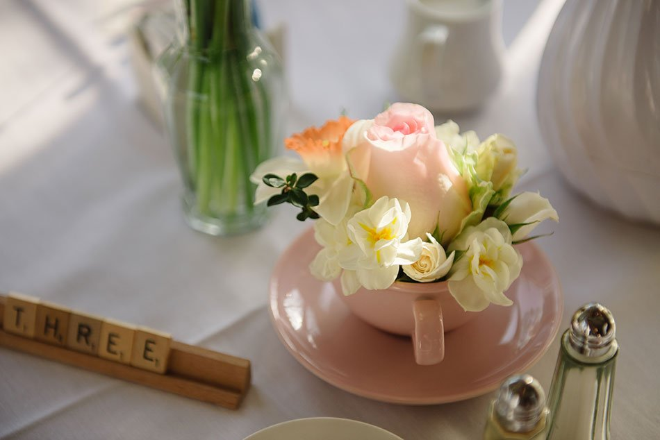 scrabble themed table decor at Windsor Country Club wedding Madison Wi