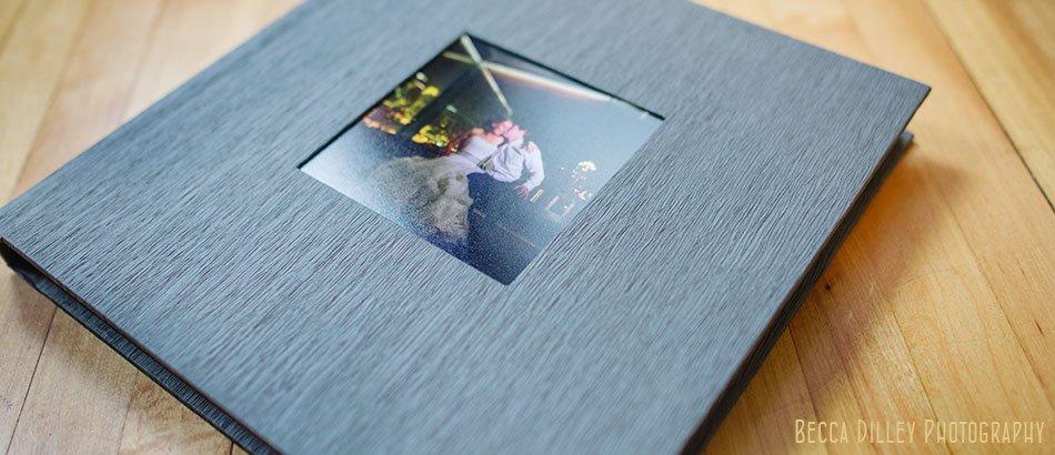 Linen wedding album simple layout