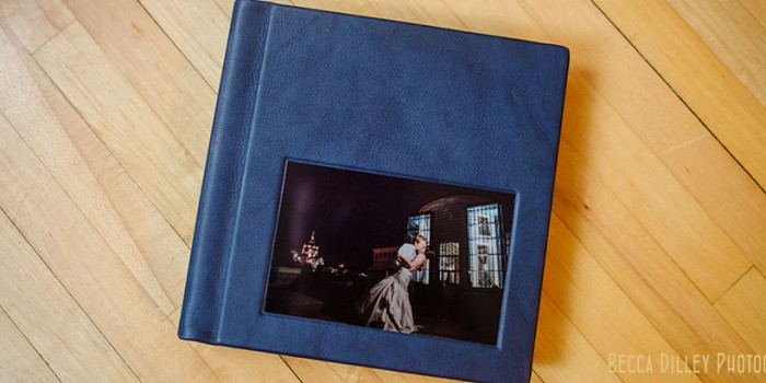 Navy Album with metal image cameo