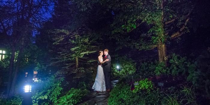 mn arboretum wedding at night